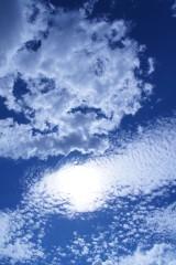 秋の空・うろこ雲(青強調)