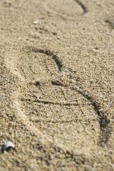 砂浜の足跡1
