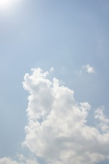 空・太陽と雲