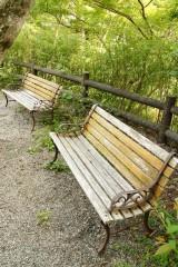 古い木製のベンチ2