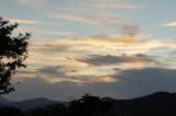 朝焼けが反射してる雲