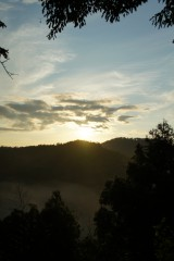 山の空・朝焼け1