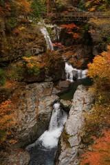 紅葉と滝(みたらい渓谷)3