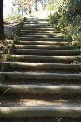 明日香村・甘樫丘展望台までの階段