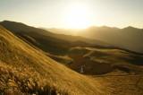 秋の曽爾高原の風景