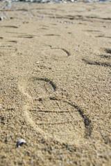 砂浜の足跡2