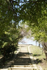 甘樫丘展望台までの階段